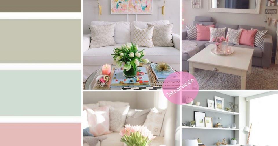 Decoraci n salas color pastel el mundo de aia for El mundo decoracion