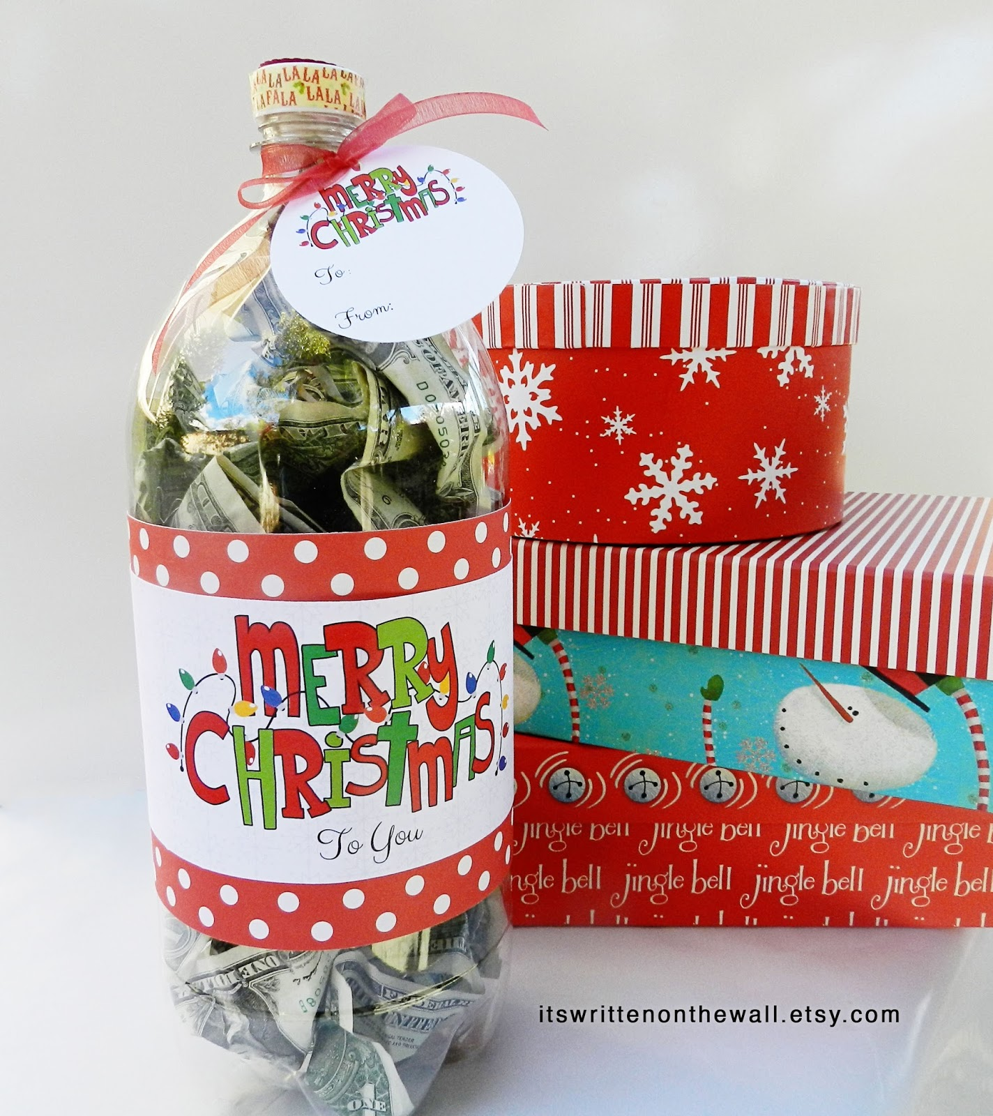 Its Written On The Wall Christmas Cash Gift Idea Fill