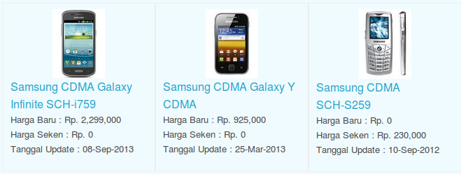 Daftar Terbaru Harga Hp Samsung CDMA Oktober 2015
