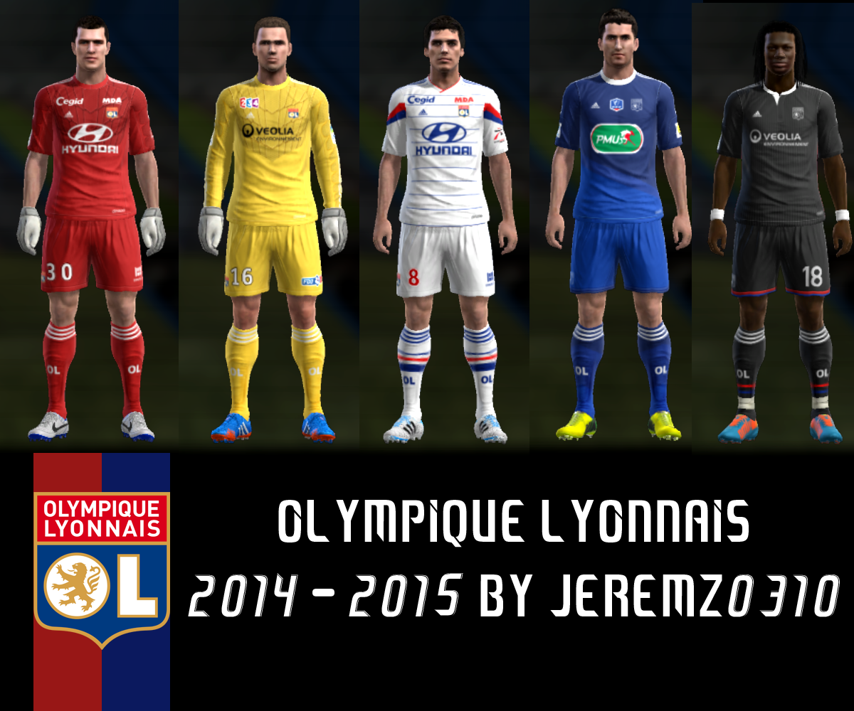 Olympique Lyonnais - Download PES 2013 Kit Pack 2014/2015 Top Team Vol. 2 By Hardiyan ideas
