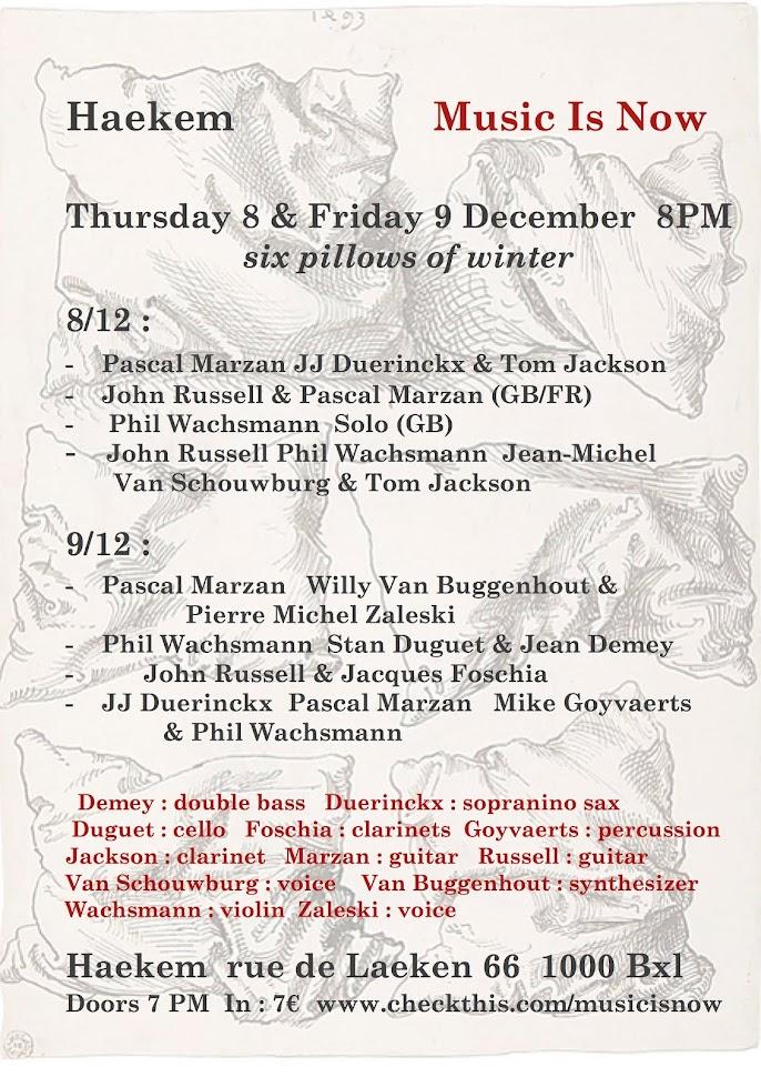 Haekem Music Is Now 8 et 9 décembre