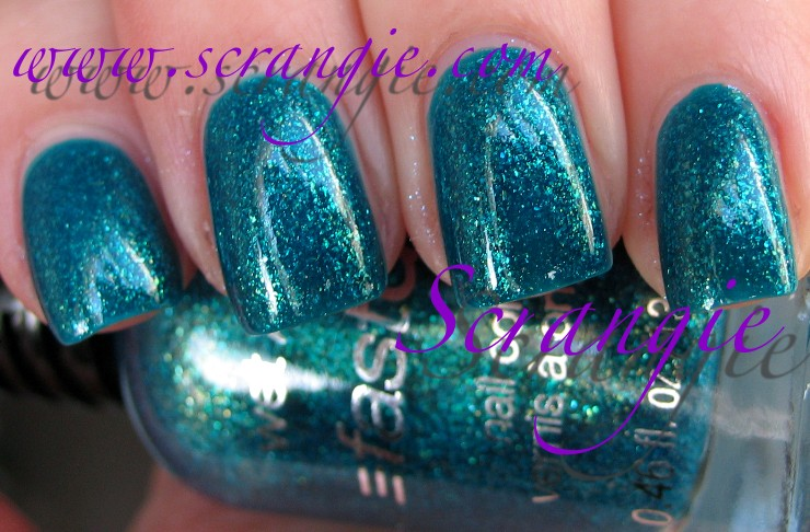 Scrangie: Wet n Wild Fast Dry Nail Color in Teal of Fortune