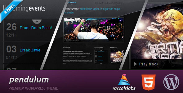 Pendulum Wordpress Theme Free Download by ThemeForest.