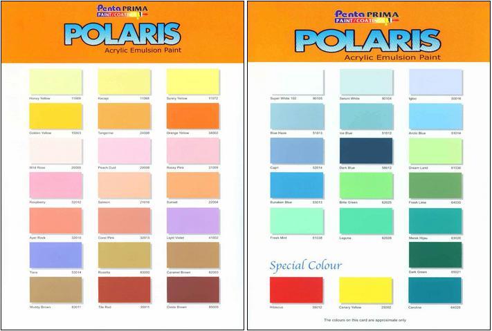 Warna Cat Avian Polaris Emulsion  Pilihan