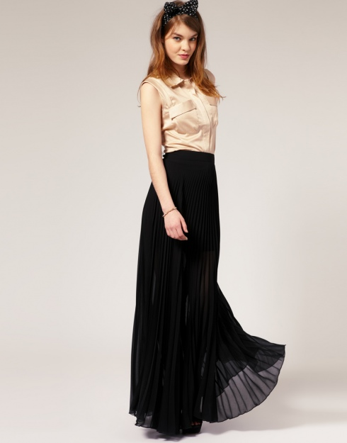 Black Maxi Skirts For Women