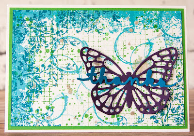Timeless Textures Butterfly Thank You Card made using supplies from Stampin' Up! UK