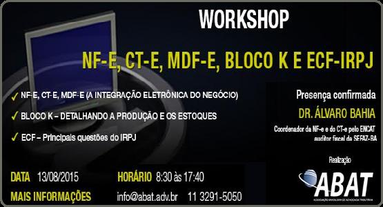 ABAT: Workshop *** VAGAS ESGOTADAS ***