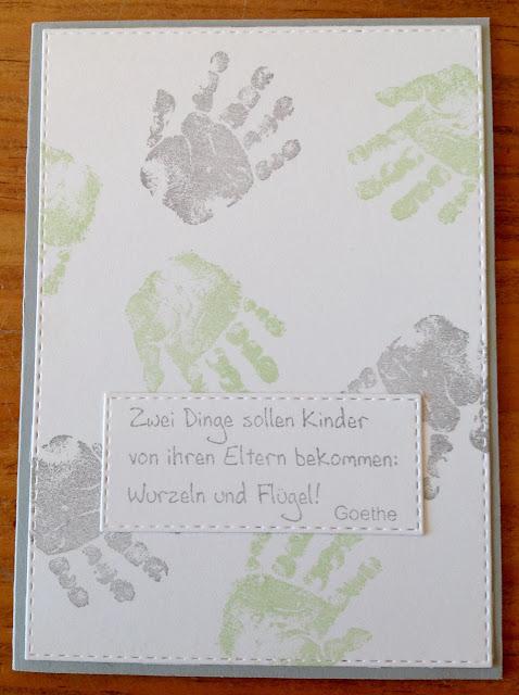 """""""Babyglück"""" von Stampin´up, Schriftstempel von Flamingo Art"""