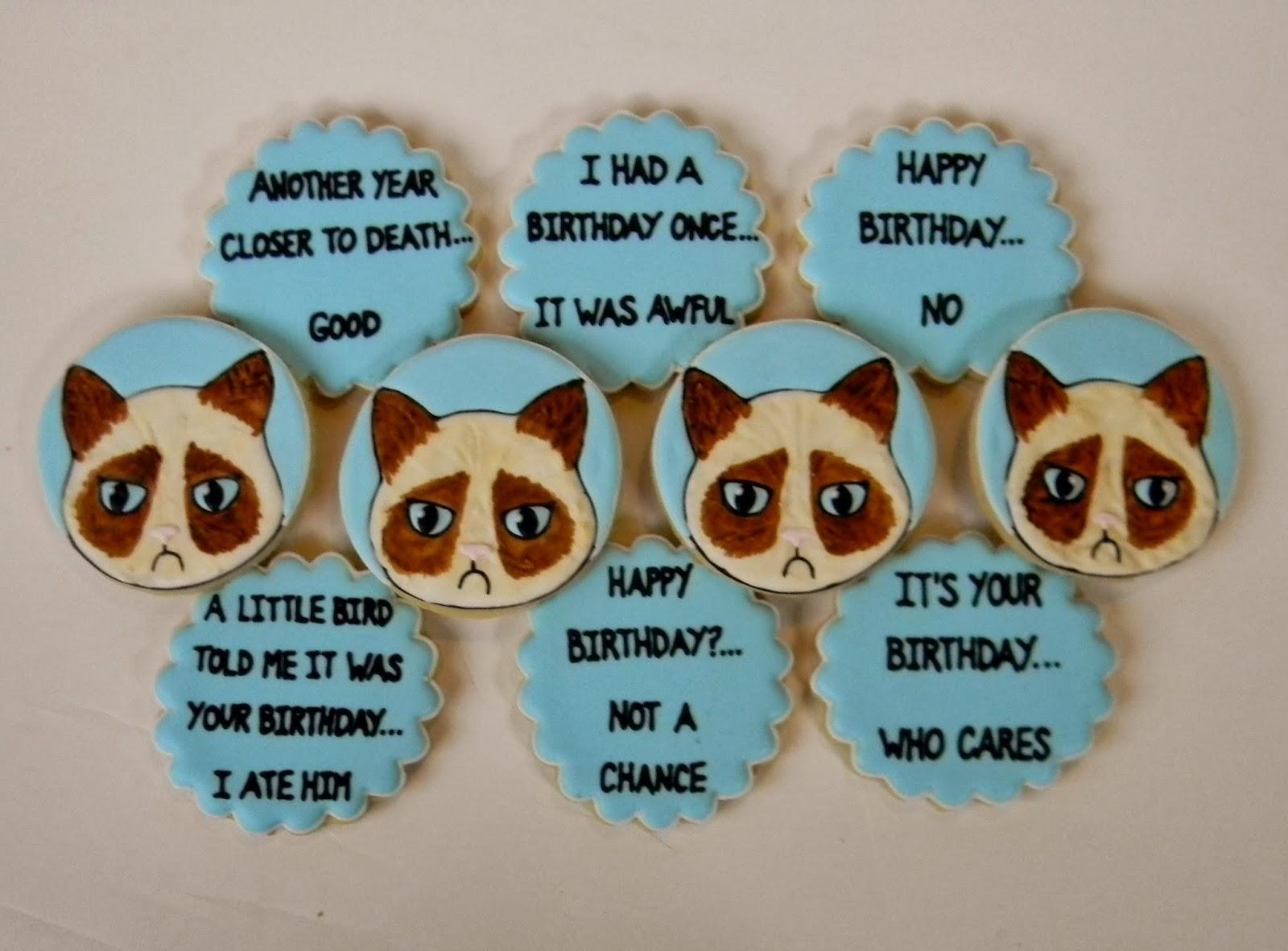 Sweet Melissa S Cookies Grumpy Cat Birthday Cookies