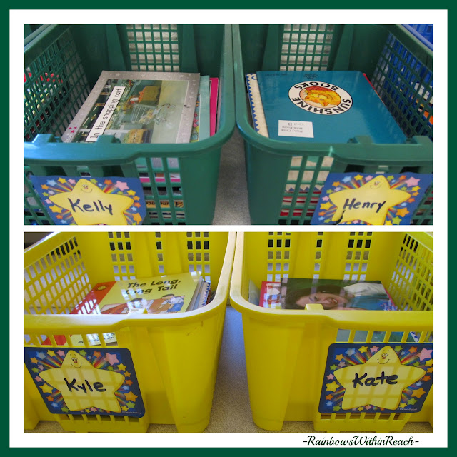 photo of: Classroom Bins for Individual Students (Organization in the Classroom)