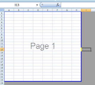 how to change print area in excel