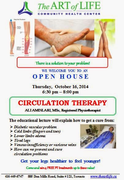 Open House: Circulation Therapy, The Art of Life Health Centre Toronto