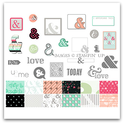 Stampin' Up! Amped Up Ampersands Digital Kit