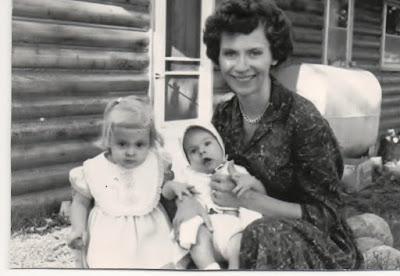 Angela Henn Bollinger, her daughter and eldest son, approximately 1961