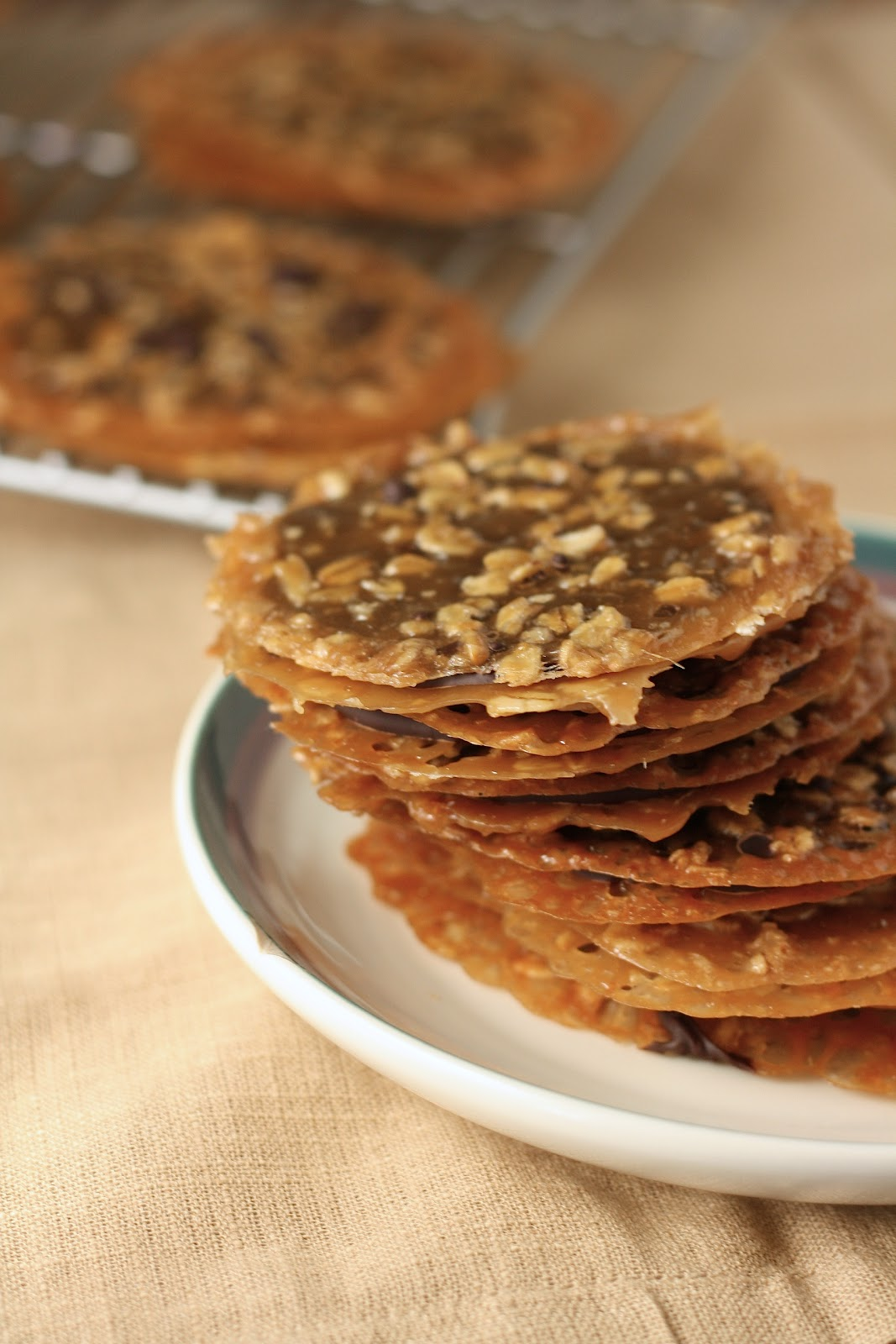 Dark Chocolate Oatmeal Lace Florentines | hummingbird high || a ...