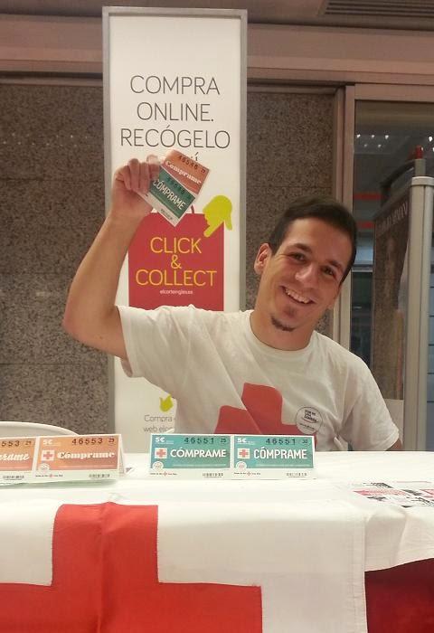 Oscar Ortiz, vendedor de Cruz Roja