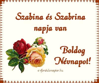 Október 27 - Szabina és Szabrina névnap