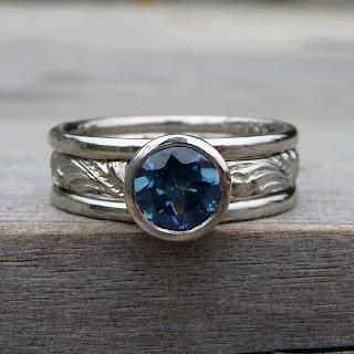 sapphire palladium ring