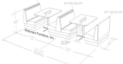 Booth kitchen pic dimensions