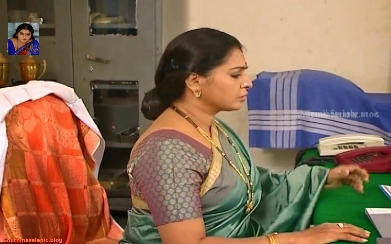 Tamil Serial Aunty Series 21 -Seetha Aunty Actress Hot Saree, Blouse ...