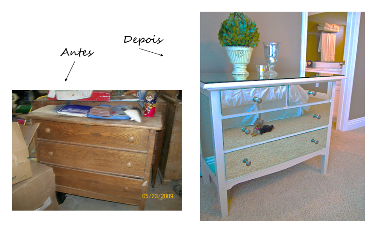 WHITE GLAM*: Reciclar móveis! #2A68A1 1276x770