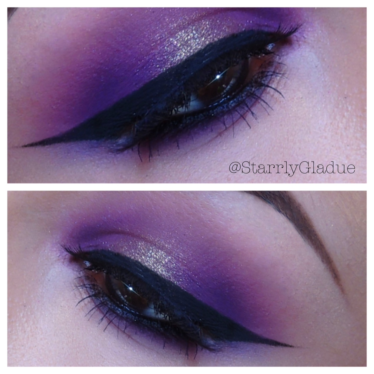Makeup By Starrly Purple Smokey Eye