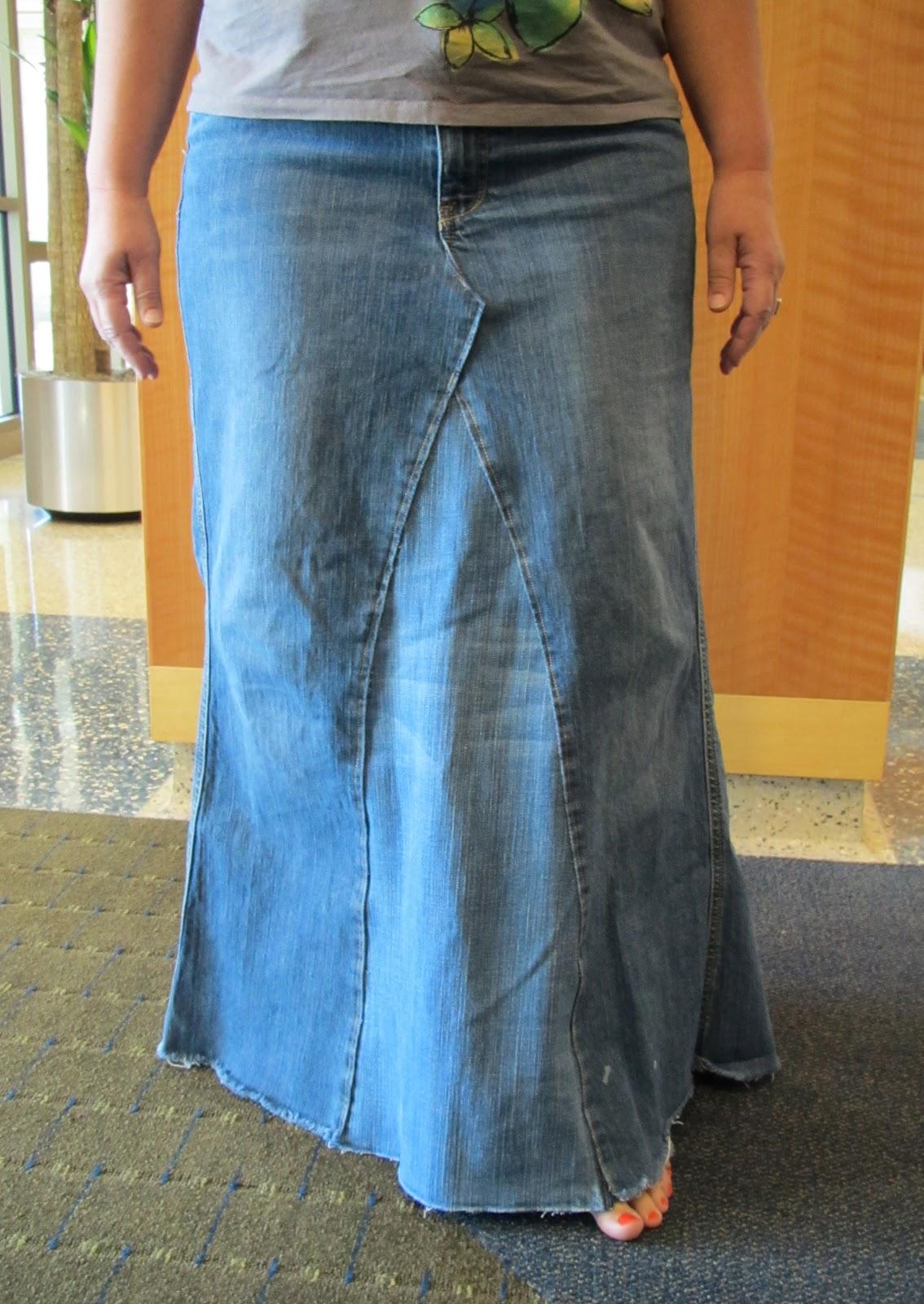 Как сшить юбку и с джинсами 11