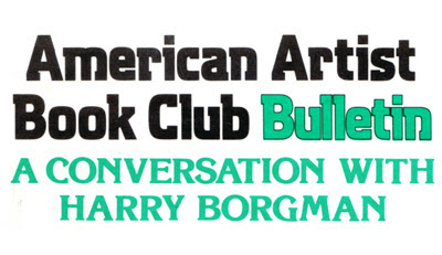 Harry Borgman Interview on Ink Line Drawing for The American Artist Book Club.