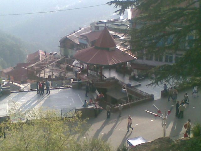 Mall road tourist place shimla