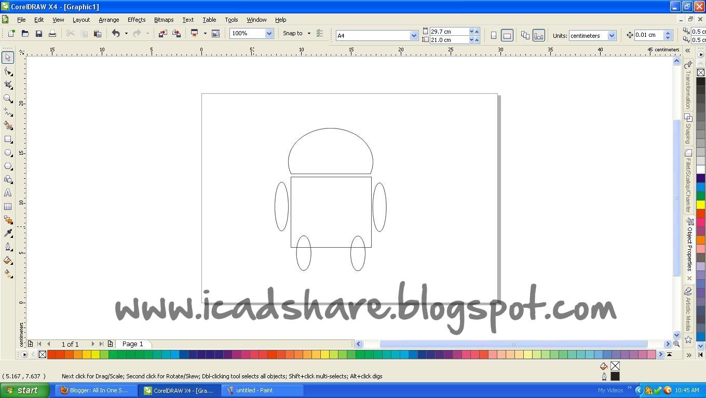 Cara membuat Logo Android Menggunakan Corel Draw X4