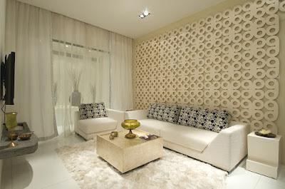 krawangan GRC sebagai panel dekoratif ruangan