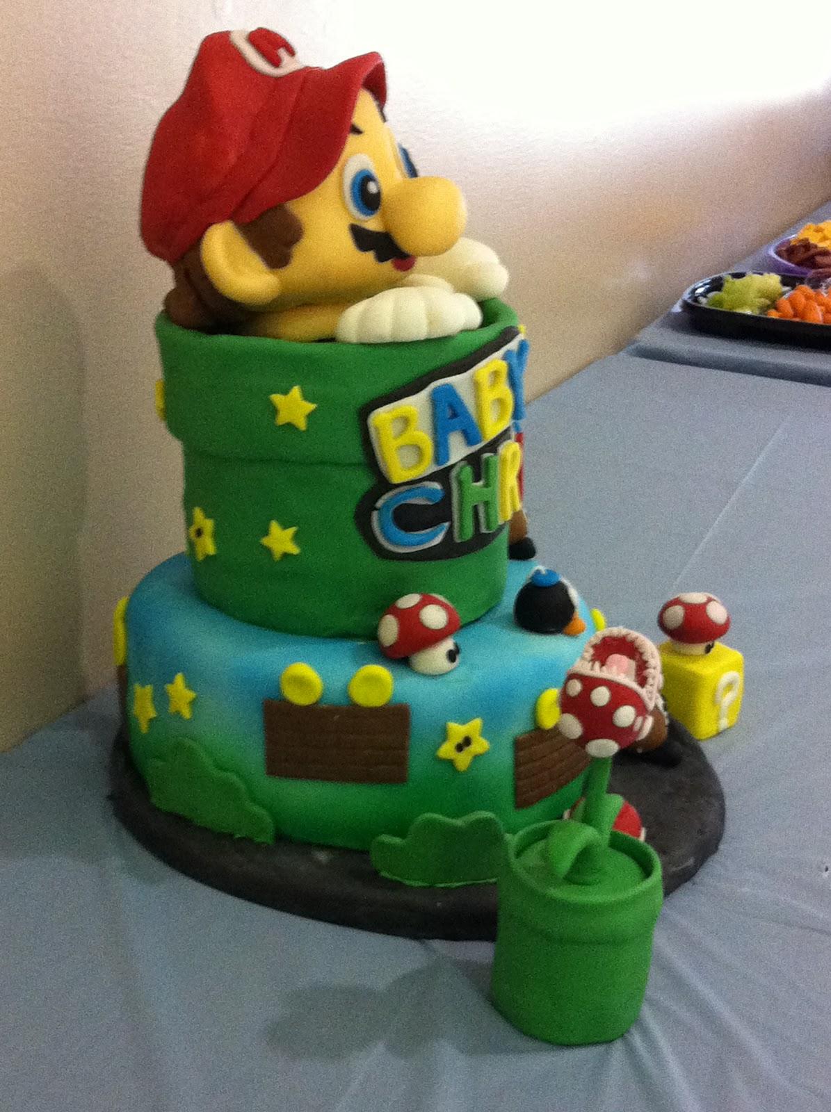 Yumeis Cake Mario Theme Baby Shower Cake