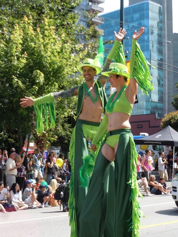 Stilts Vancouver Pride Parade