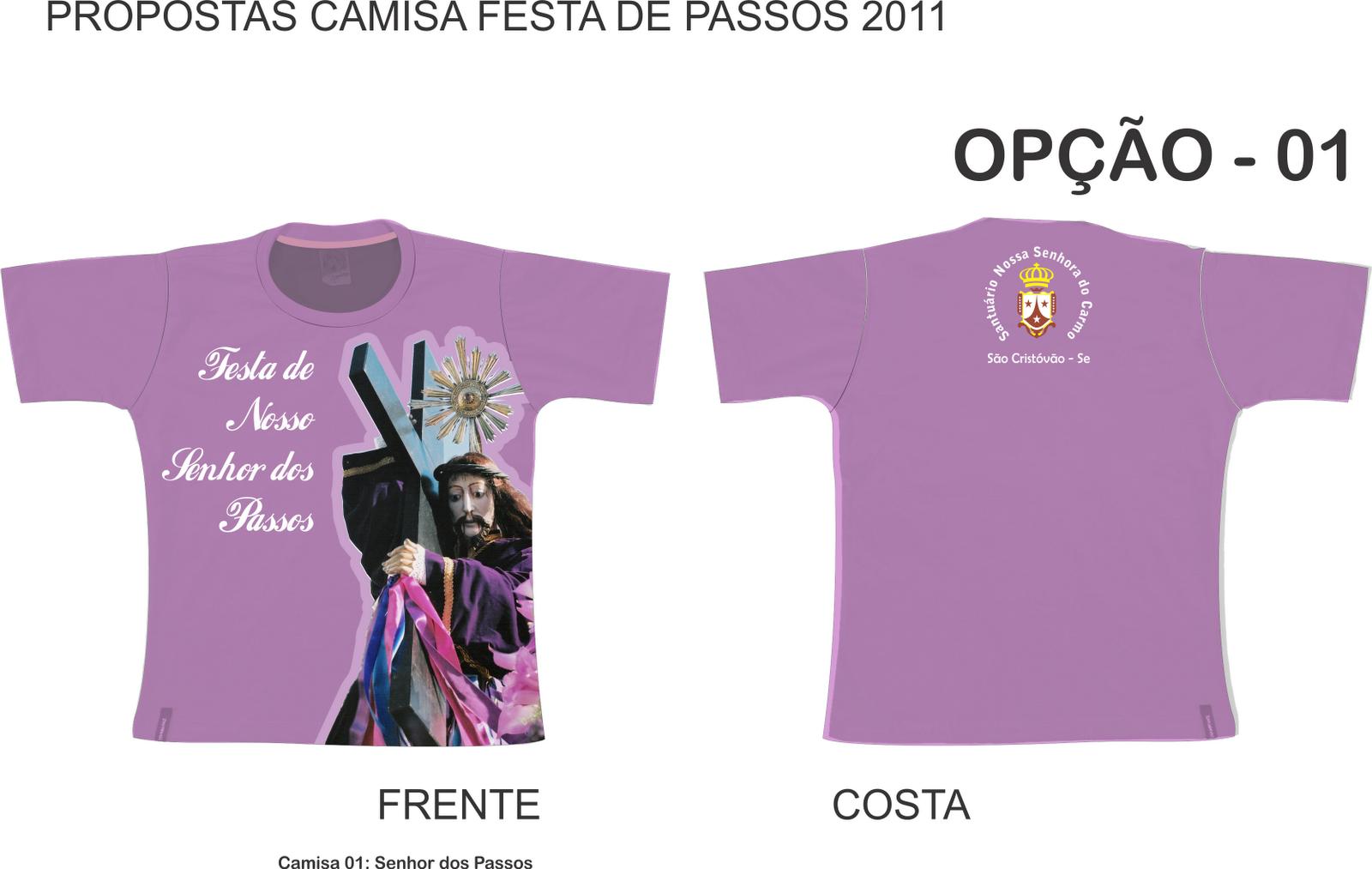 Proposta De Camisas Para A Festa De Nosso Senhor Dos Pos