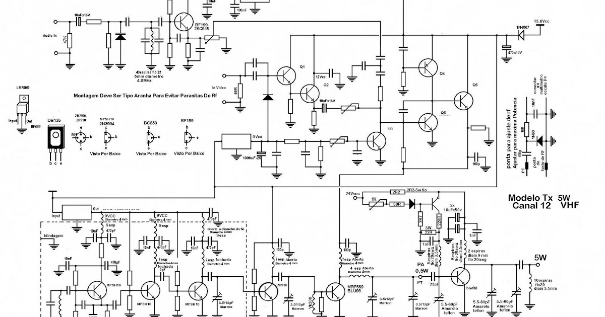 pll rf transmissores  transmissor de tv vhf