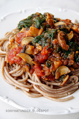 mushroom_and_spinach_spaghetti