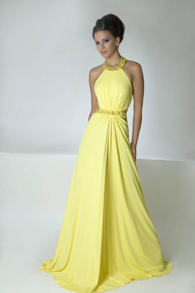 Yellow Evening Gowns Yellow evening dresses...