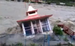 Heavy Rain In Uttarakhand – River Side Buildings Falling Live Video