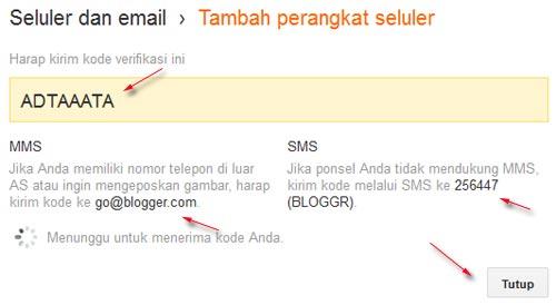 seluler dan email