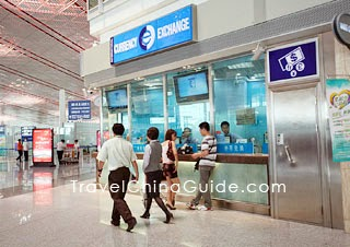 Currency Exchange in Beijing International Airport