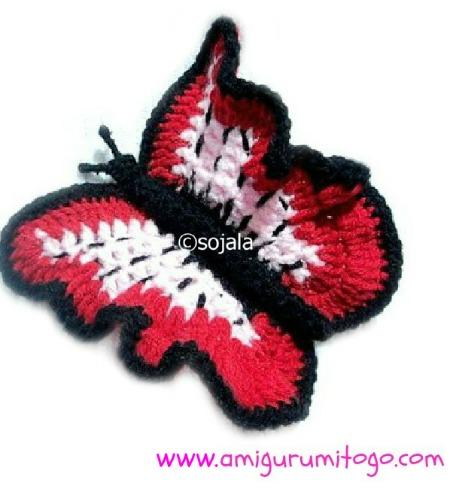 Amigurumi Butterfly Crochet Patterns Free : Butterfly Free Crochet Pattern ~ Amigurumi To Go