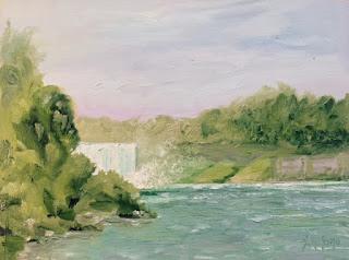 Kath Schifano, plein air Niagara Falls, niagara artist