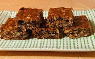 Closeup of Persimmon Bars