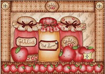 Bote de mermelada de manzana y miel