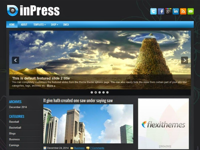 inPress - Free Wordpress Theme