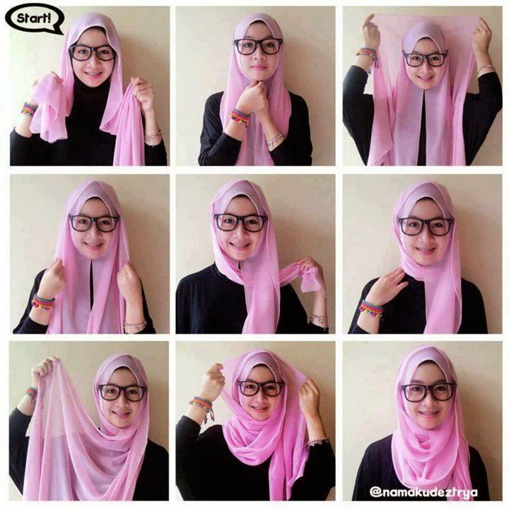 Fashion model dan style baju hijabers 2014 cara memakai jilbab