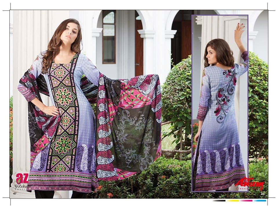 AnumClassicLawnVOL 2ByAl ZohaibTextile 8  - Anum Classic Lawn 2014 Vol-2 By Al-Zohaib Textile