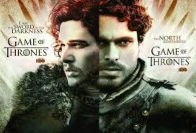 Jon Snow and Robb Stark Game of Thrones Season 2