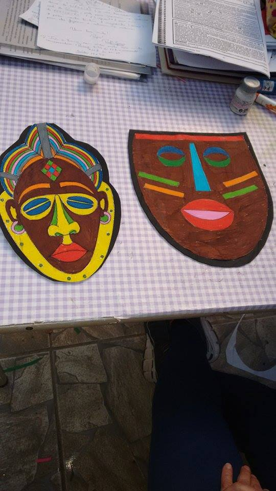Africanidades Como Fazer Máscaras Africanas Com Papel
