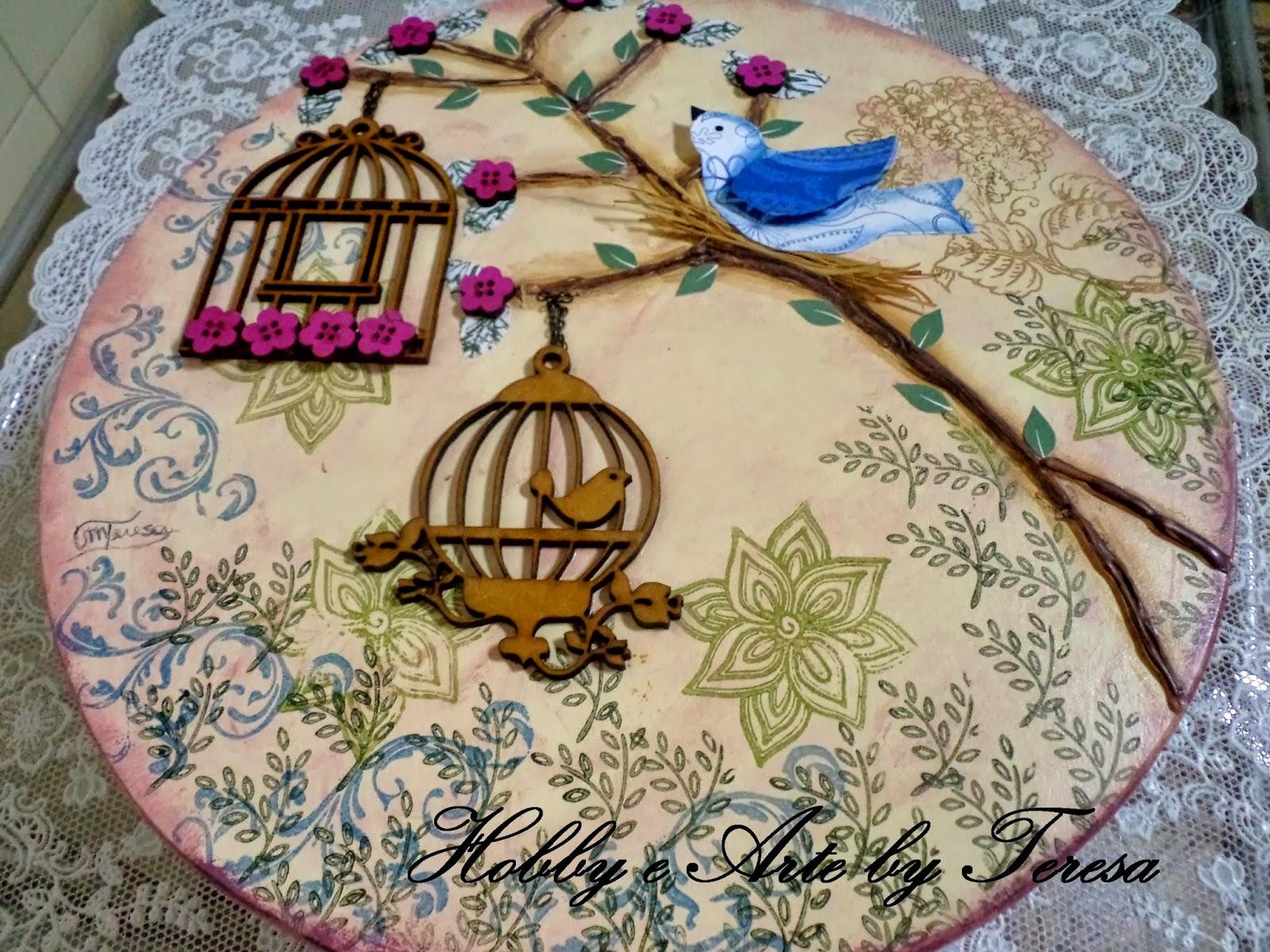 Mais uma linda Caixa em mdf decorada com gaiolas #8F2967 1600x1200